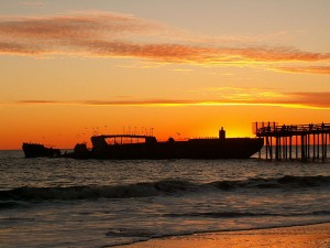 The SS Palo Alto in Aptos at Sunset