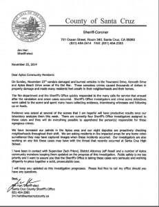 Sherriff Letter