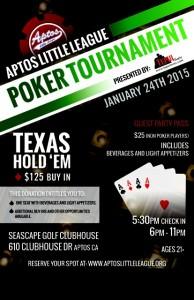 First Annual Aptos Little League Poker Tournament