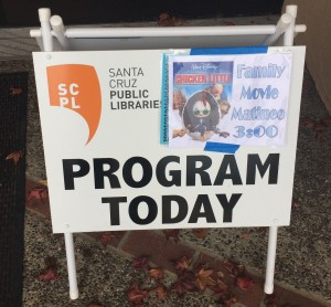 Free Family Movie Matinee at the Aptos Public Library