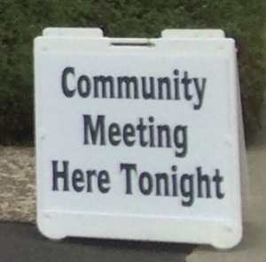 Aptos Village Meeting on April 22