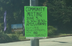 Community Meeting at the Aptos Library on June 3rd