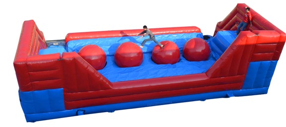 Wipeout Style Bounce House