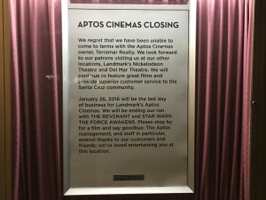 Final Curtain Call at Aptos Cinemas