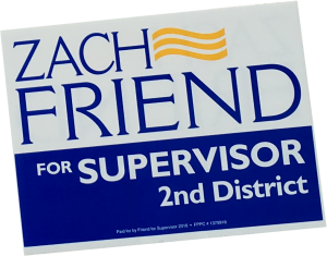 Zach Friend Yard Sign