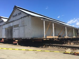 Time Lapse Video shows Hihn Apple Barn Moving